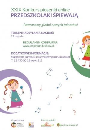 """""""Przedszkolaki Śpiewają"""" – konkurs online"""